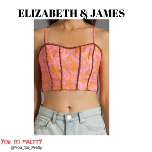 ELIZABETH AND JAMES Candice Bustier Top NWT
